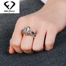 White 14K Gold Diamond Rings for Women Sapphire Anillos De Bizuteria Agate Jewelry Fine Gemstone diamond ring