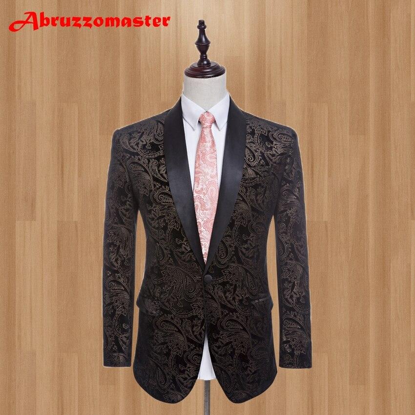 Brand-Black-Velvet-Men-Suits-Shawl-Lapel-Slim-Fit-Wedding-Suits-For-Best-Men-One-Button