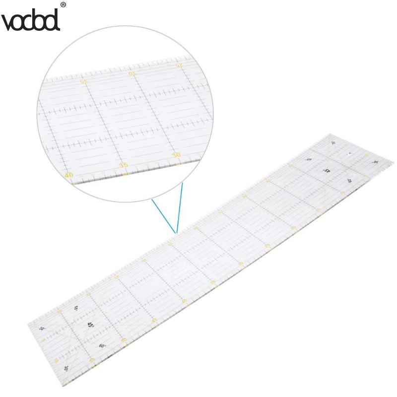 DIY Handmade Patchwork Feet Tailor Quilting Tools  Acrylic Material 60*15 Cm Patchwork Measuring Ruler Seam Sewing Scale Rulers