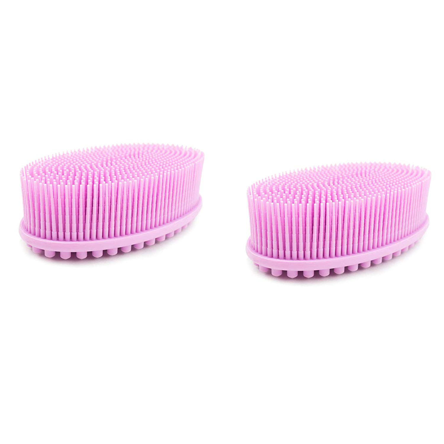 Bath and Shower Loofah Brush 2 in 1 Face and Body scrub Gentle body brush Skin 100% Better Scrubber silicone body brush for ba