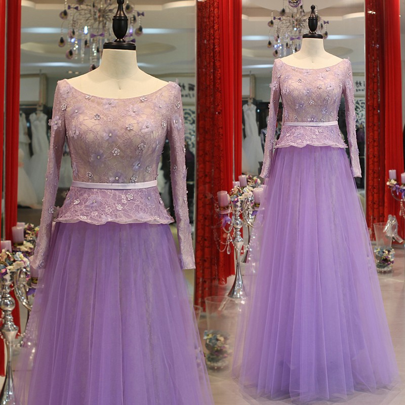 Long sleeve celebrity dresses mother lace gown idodress 40 (1)