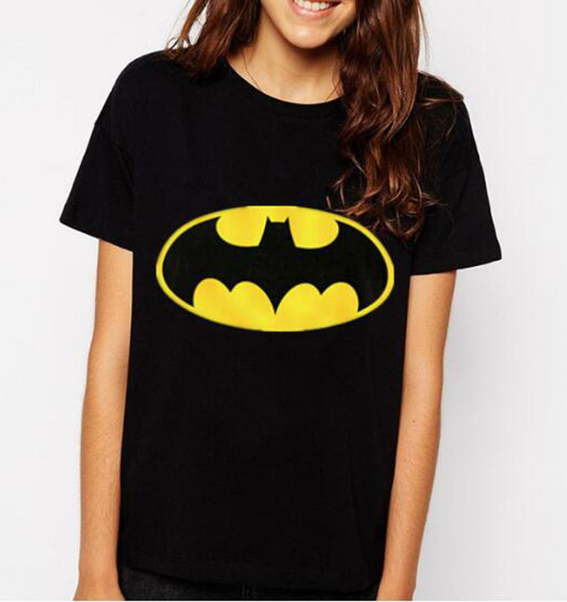 2019 Cartoon Batman Druck Kawaii T-shirt Frauen Lustige Baumwolle Casual Shirt Für Dame Mode Karajuku Marke Weibliche T-shirt Punk Tops