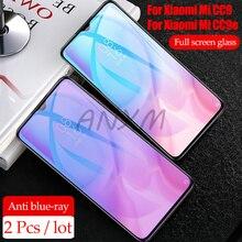 2pcs Tempered Glass For Xiaomi Mi CC9 CC9e Screen Protector 9H Anti Blu-ray CC 9 SE Protective Film