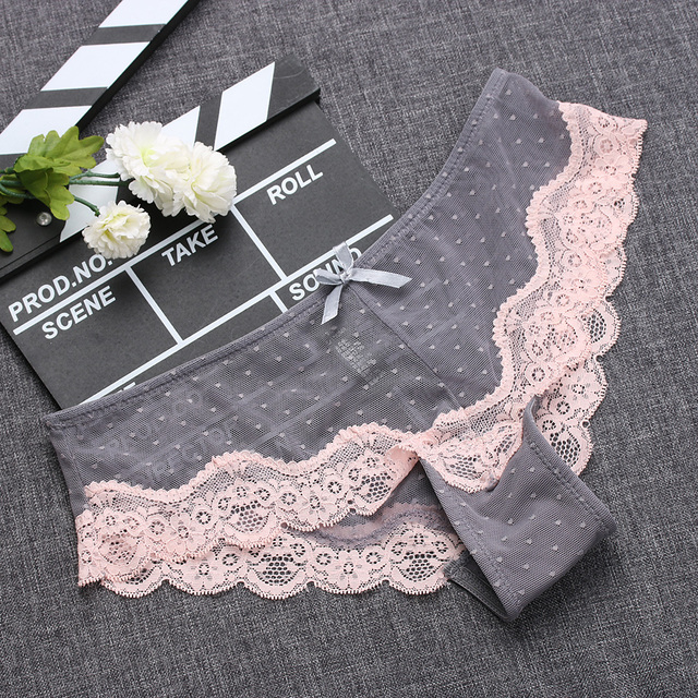 Low-Rise Ultra Thin Lace Panties Sleepwear
