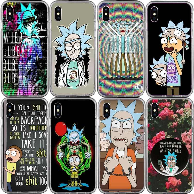 Rick และ Morty Season Hard สำหรับ iphoneXS XSMAX XR 8 8 Plus 7 7 Plus 6 S 6 SPlus 5 S SE Hard พลาสติก Cove