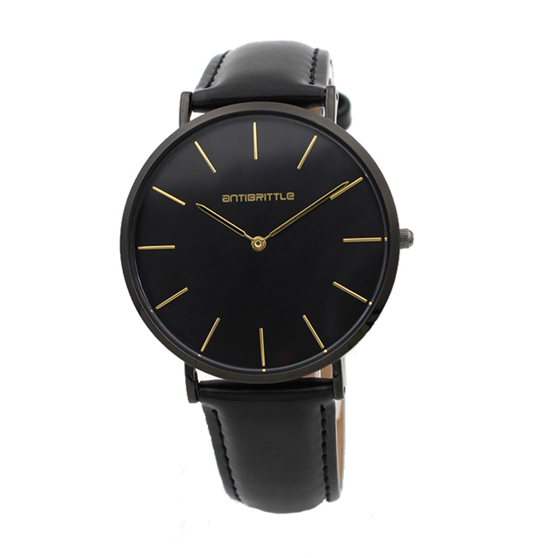 Quartz Super Ultra Thin Black Men Watches Stainless Steel Magnet Strap Gold Hand Luxury Women Wristwatch Real Leather Waterproof ultra black