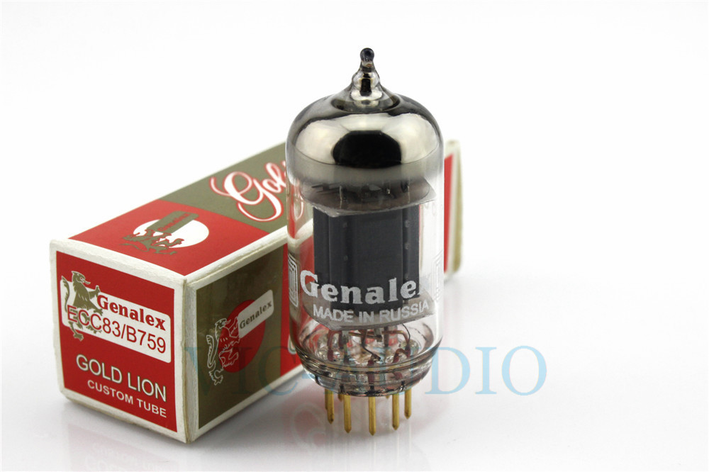 1PC Russia Tube New Genalex GOLD LION Tube ECC83 Replace B759 12AX7 ECC803 Tube 9PINS Electron Tube Free Shipping free shipping 1pc large tube stainless steel gold waterproof watch crown and tube for watch repair