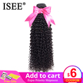 ISEE HAIR Mongolian Kinky Curly Hair Bundles Remy Human Hair Extensions Nature Color Can Buy 1/3/4 Bundles Kinky Curly Bundles