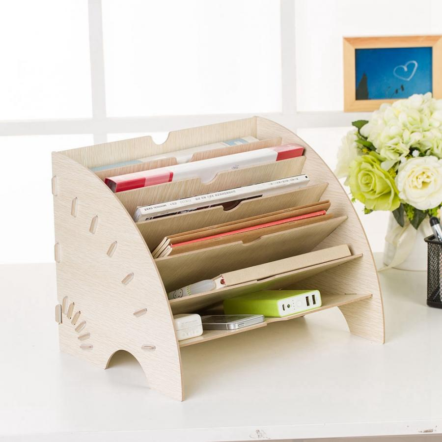 Support de rangement en bois bricolage pour cosmétiques organisateur de maquillage écologique en bois petit bureau à domicile organisateur de tiroir de bureau nouveau