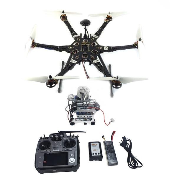 Assembled Full Set Drone RTF HMF S550 Frame GPS APM2.8 Flight Control with Compass AT10 TX/RX 2-axis Gimbal F08618-L inav f3 deluxe flight control m8n gps set integrated barometer electronic compass set high fixed point