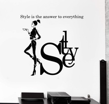 Vinyl Wall Decal Style Woman Quote Girl Fashion Studio Art Room Stickers Mural Unique Gift 2LR3