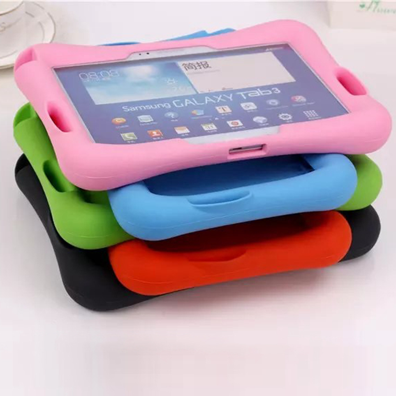 <font><b>Case</b></font> For Samsung Galaxy Tab 4 <font><b>10.1</b></font> T530 531 T535/Tab 3 <font><b>10.1</b></font> P5200 P5210 P5220 Soft Silicon Rubber <font><b>Kids</b></font> Shockproof <font><b>Tablet</b></font> <font><b>case</b></font> image