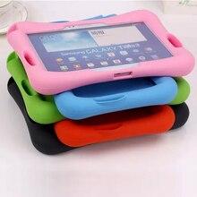 Caso Para Samsung Galaxy Tab 4 10.1 T530 531 T535/Tab 3 10.1 P5200 P5210 P5220 Suave Borracha de Silicone crianças À Prova de Choque caso Tablet