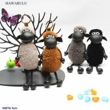 цена HAWARULU 1pcs 6*22cm DIY Cartoon animation sheep pompon key bionic plush doll toy car pompom  creativity christmas gift fetival онлайн в 2017 году