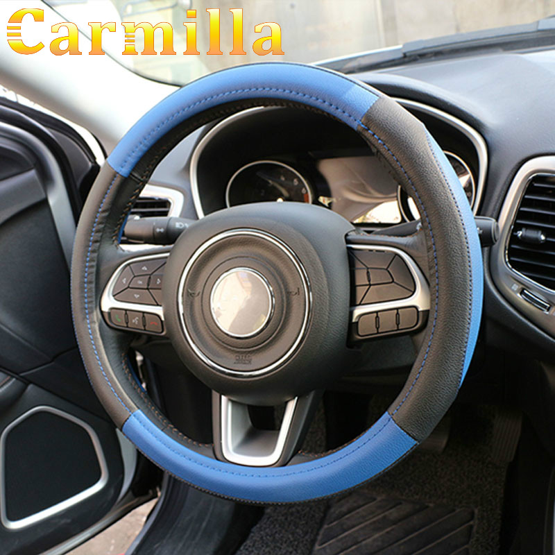 Accessories For Jeep Compass 2016 2017 Renegade 2015 2016 2017 Pu Leather Car Steering Wheel Protection Cover Steering Covers