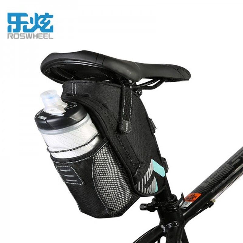 ROSWHEEL непромокаемые бутылка для воды седло велосипеда сумки с светоотражающие MTB горной дороге Хвост заднего сиденья велосипеда сумки чехол