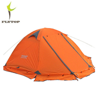 FLYTOP 3 4 Person Separated Double Layer Winter Camping Tent with Aluminum Pole Outdoor Professional Rainproof Camping Tent