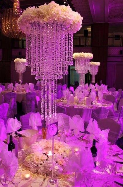 10pcs / lot křišťálový stůl středobod / svatební sloup / hotel výzdoba domácí výzdoba svatební květiny stojan