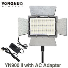 YONGNUO YN900 с Адаптером ПЕРЕМЕННОГО ТОКА, YN-900 Высоким ИНДЕКСОМ ЦВЕТОПЕРЕДАЧИ CRI 95 3200 К-5500 К Светодиодных Видео Панель