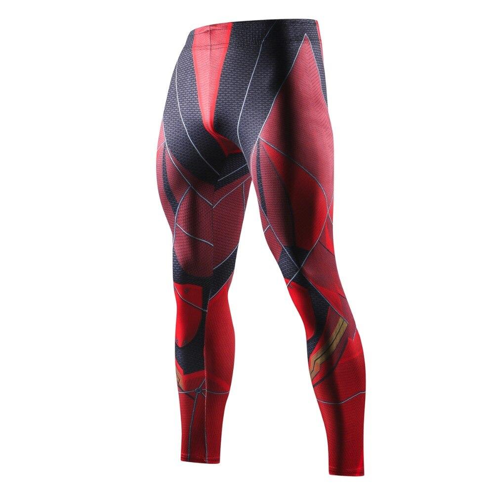 2018 Dünne Jogginghose Für Männer Compression Hosen Männer Leggings Jogger Männer 3d Fitness Crossfit Hosen Neue Flashman Elastische Hose