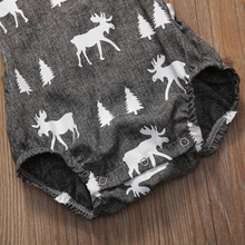 Baby Boy Girl Clothes Sleeveless Deer Romper Outfit 0-2Y