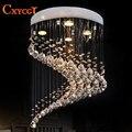 Новый современный спиральный дизайн заподлицо K9 хрустальное освещение люстра Блеск cristal домашние светильники Dia50 * H55cm