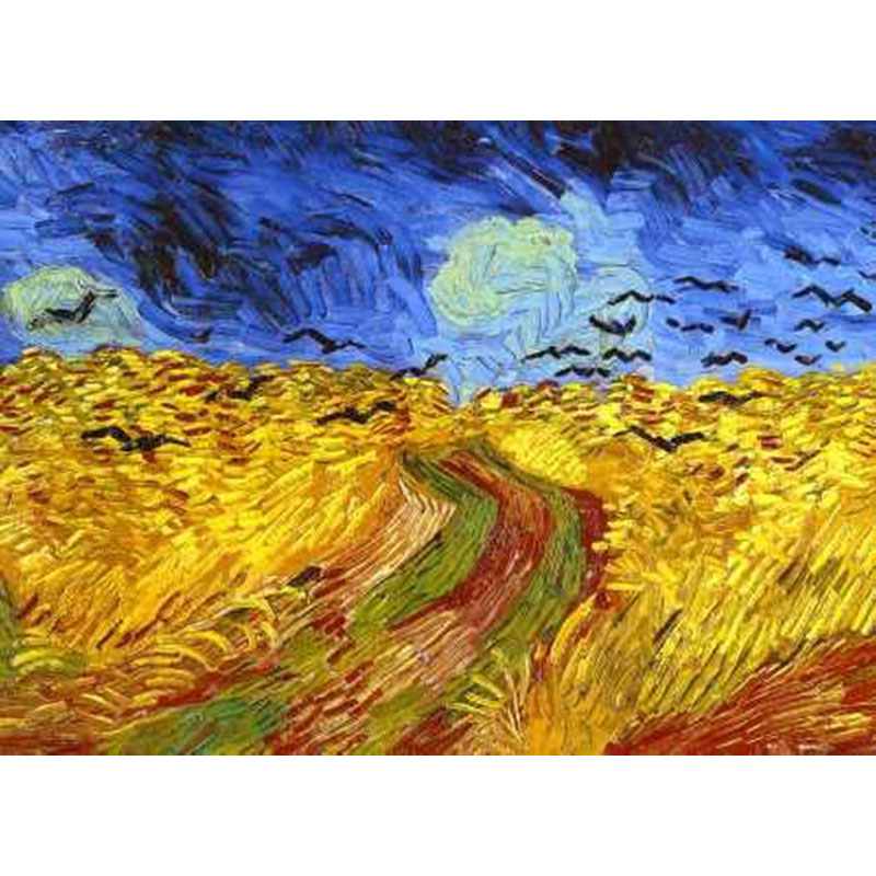 hand painted high quality Wheat Field with Cypresses landscape art abstract Canvas painting Vincent Willem van Gogh Impressionis