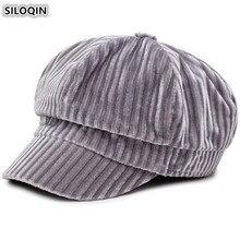 SILOQIN Autumn Winter Womens Hat Elegant Newsboy Caps Trendy British Joker Snapback Cap Foldable Beret Brand Hats For Women NEW