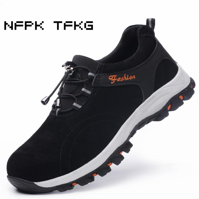 d3be89457 punção Tamanho Macio Tênis Segurança Black grey Anti Aço Casuais Biqueira  Respirável Botas blue De Grande Trabalho Sapatos ...
