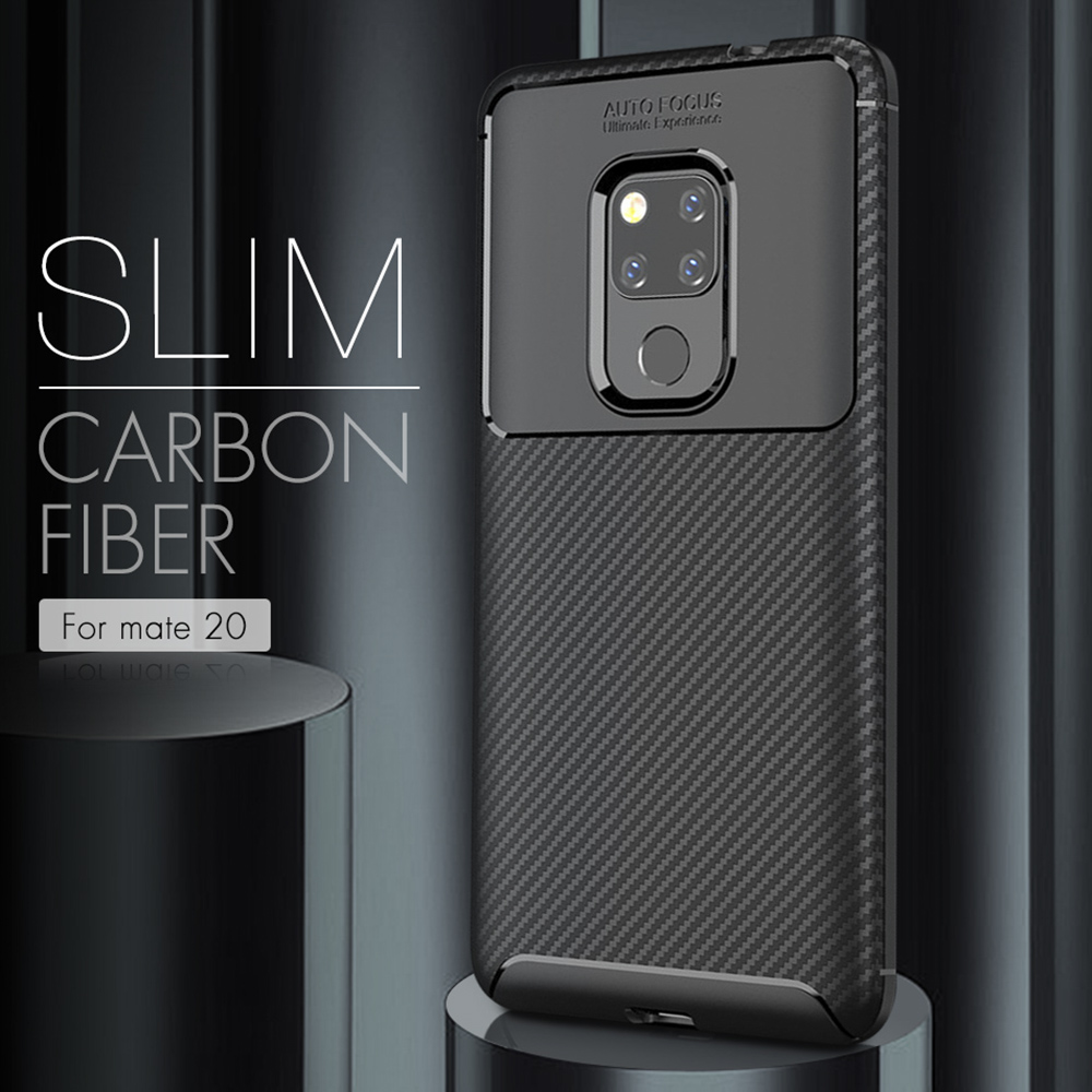 For Huawei Mate 20 Pro X Hard PC+TPU Carbon Fiber Texture Case For Huawei P10 P20 Pro Lite Luxury Slim 360 Full Back Cover Case