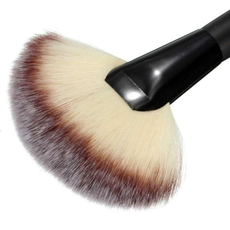 1pcs Big Fan Brush Foundation Blush Contour Perie Machiaj Perii - Machiaj