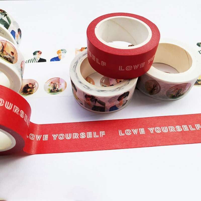 Mother & Kids 100% True Answer Love Yourself Bts Adhesive Tape Scrapbooking Sticker Bt21 Paper Masking 2019 Newest Boys' Baby Clothing
