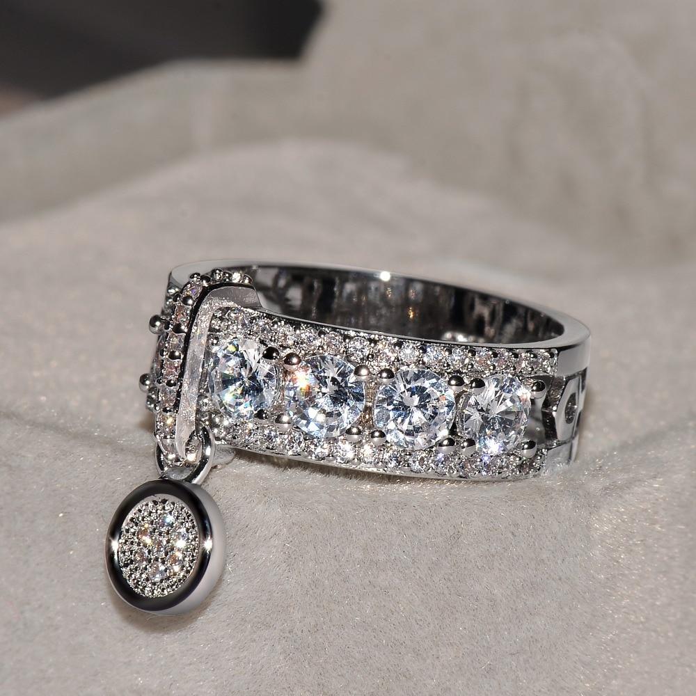 Новое поступление, винтажный однотонный цвет розовое золото, свадебные кольца для женщин, модные ювелирные изделия, роскошные белые циркониевые обручальные кольца