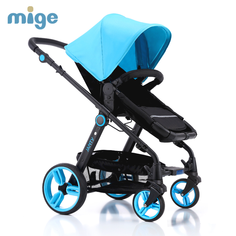 Baby stroller high landscape song baby car baby cart for Mercedes benz baby pram