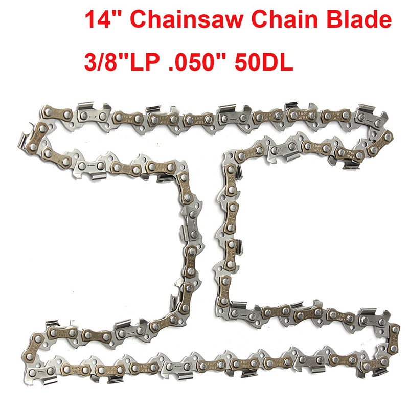 купить 14 Chainsaw Chain Blade 3/8LP Sharp Blade Quickly Cut Wood For Stihl 009 010 017 019 023 MS170 MS180 дешево