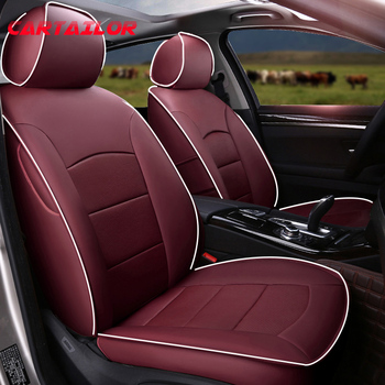 CARTAILOR Cowhide Cover Seats for BMW X3 e83 Leather Car Seat Cover Set Automobiles Cushion Covers for f25 Accessories Airbags