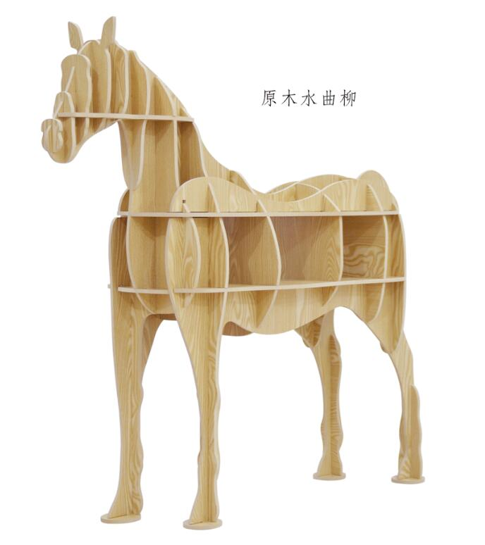 wood craft horse desk horse coffee table wooden home furniture Europe style wooden home decoration accessories The horse statue factory wholesale european style rhino wood coffee table desk craft gift desk self build puzzle furniture free shipping