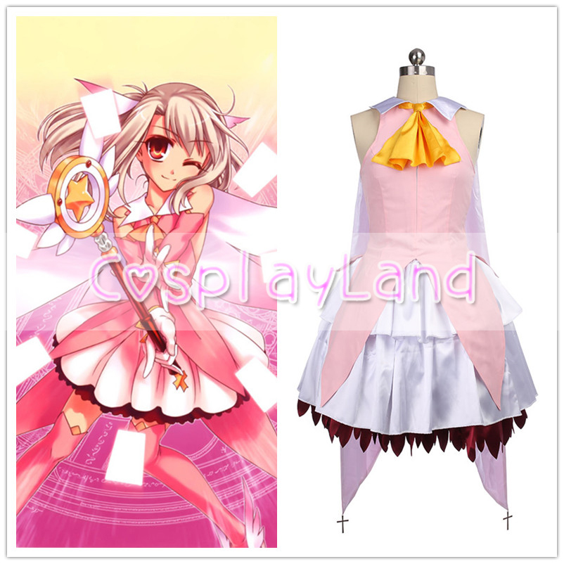 Fate kaleid liner Illya Illyasviel Von Einzbern Magical Girl Cosplay Costume Full Set Women Dress Halloween Costum Made Costumes
