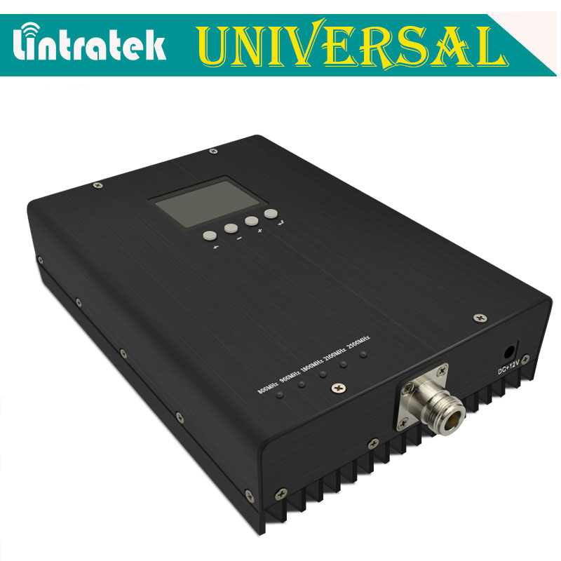 Lintratek Five Band Mobile Signal Repeater GSM 900 UMTS 2100 LTE 1800 2600 B20 800mhz Cellular Signal Booster Amplifier S41