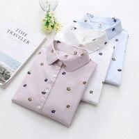 Women Shirt 2019 Spring New Fashion Women Print Shirts Long Sleeve Blouse Lady Loose Wild Fresh Style Cotton Casual Blouses Tops Women Shirts