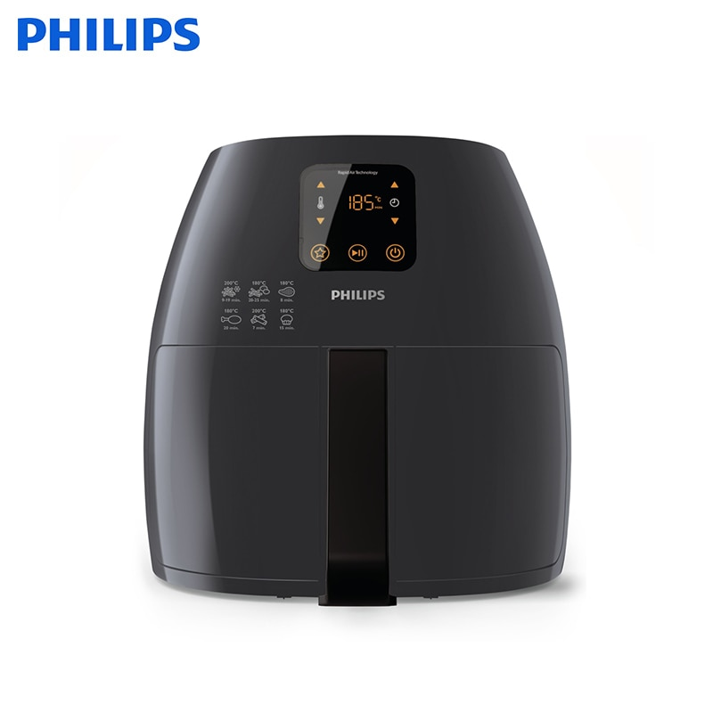 Aerogril XL with Rapid Air technology and digital display Philips Avance Collection HD9241/40 aero grill air fryer lucky family digital sports watch red led time and date display