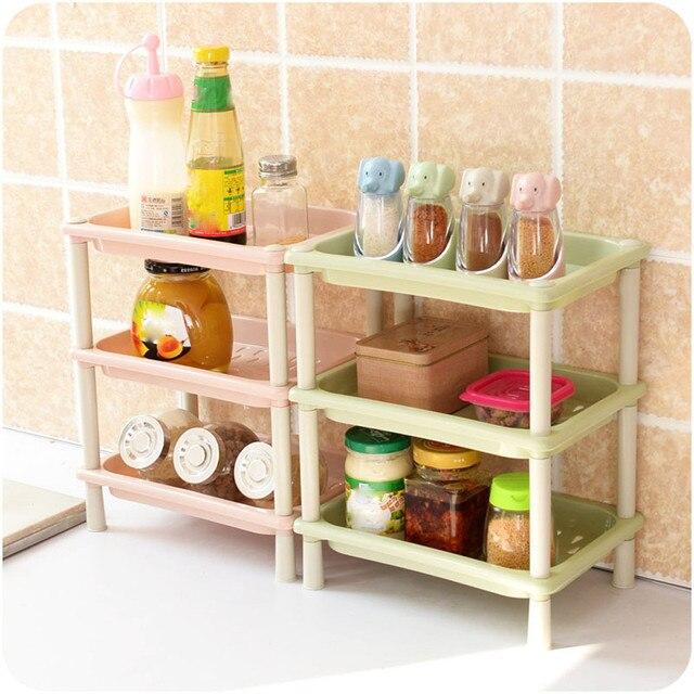 3 tag res en plastique coin organisateur caddy salle de bains douche cuisine rack de stockage for Organisateur salle de bain