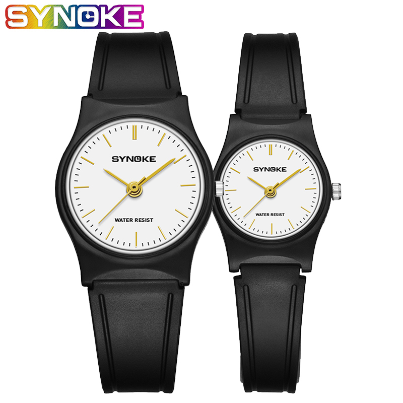 SYNOKE Small Watches Women Unisex Quartz Clock Relogio Masculino Waterproof Casual Ultra Thin Wrist Watch For Men