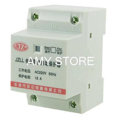 35mm DIN Rail 2 Pole Overload Protector Electronic Circuit Breaker 15A 220V AC 400 amp 3 pole cm1 type moulded case type circuit breaker mccb