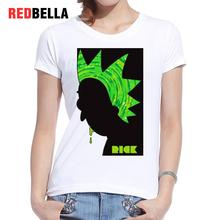 REDBELLA Graphic Tees Women Rick And Morty Art Hip Hop Style Cartoon Anime T-shirt Feminina Cotton Fashion Printing Clothing New
