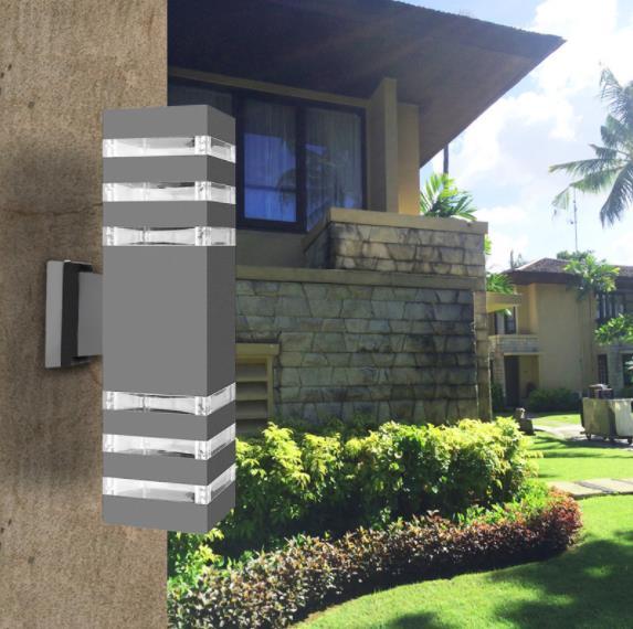 moderno a prova dwaterproof agua para cima para baixo de aluminio cuboid led luminarias de parede