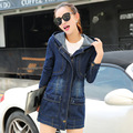 S-3XL,4XL Plus Size Jeans Jacket Women 2016 Autumn Winter Coat Slim Denim Jacket Women Coats Vintage Jeans Basic Coat Female