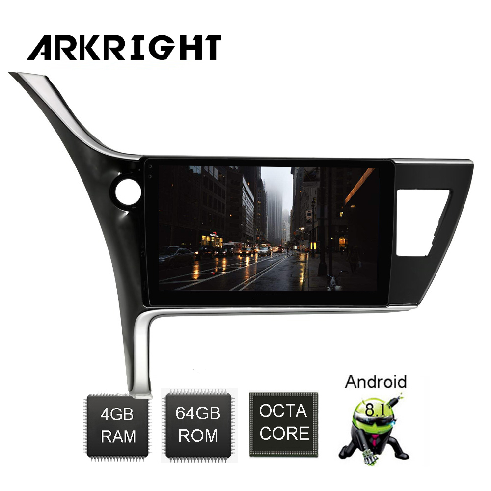ARKRIGHT 10.1'' Android 8.1 Car Radio GPS car stereo for <font><b>Toyota</b></font> <font><b>Corolla</b></font> 2017 <font><b>2018</b></font> IPS screen <font><b>multimedia</b></font> Player rear view camera image