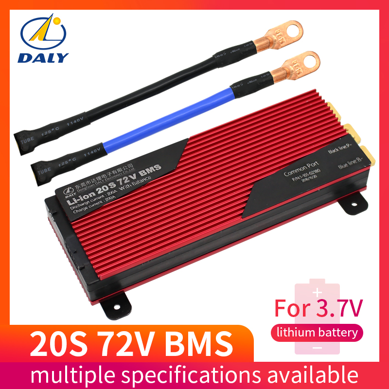 Daly 20S 72V Li ion BMS 80A 100A 120A 150A 200A Big Current for 18650 Lithium