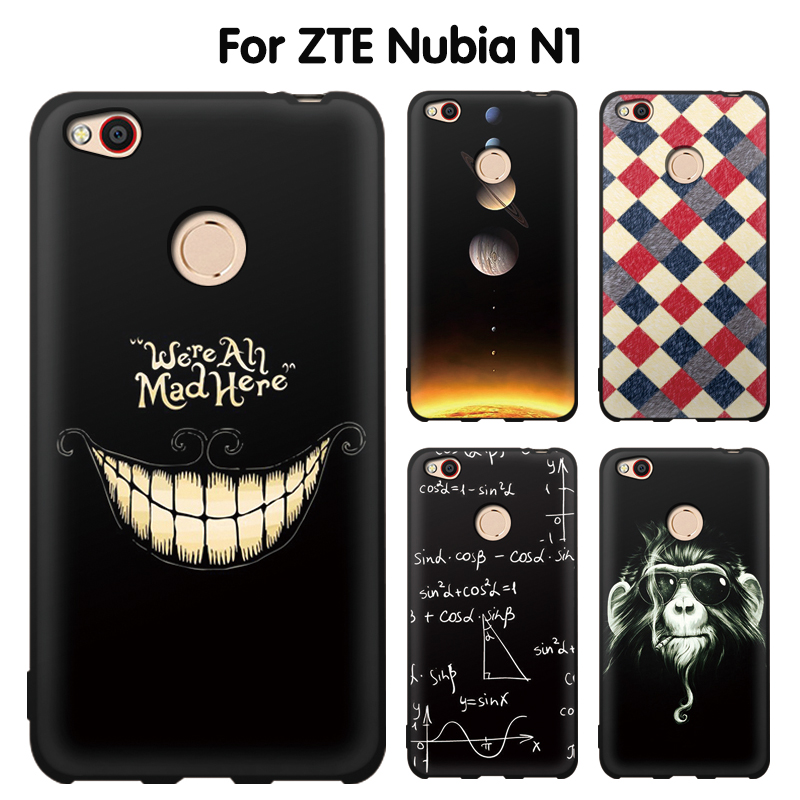 EiiMoo Phone Case For ZTE Nubia N1 Funda For ZTE N1 NX541J Silicone Cute Cartoon Soft TPU Back Cover For ZTE Nubia N1 Case Cover ...